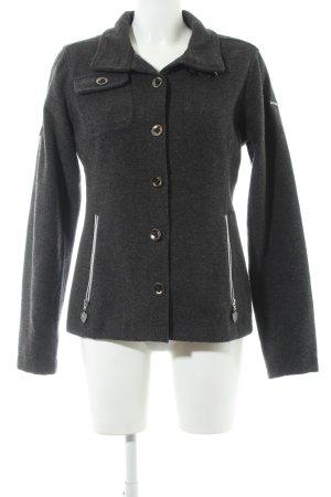 Northland Abrigo de lana gris antracita moteado estilo sencillo