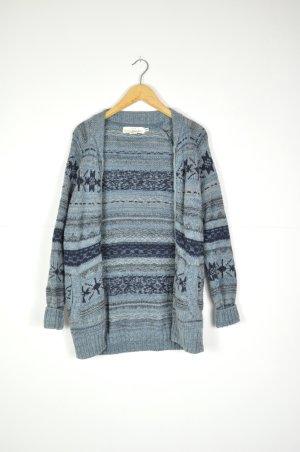 H&M Cárdigan de estilo noruego azul oscuro-azul