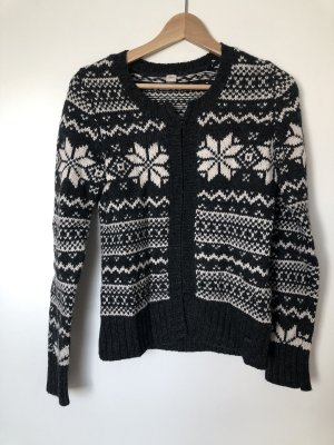 s.Oliver Norwegian Cardigan dark grey-white