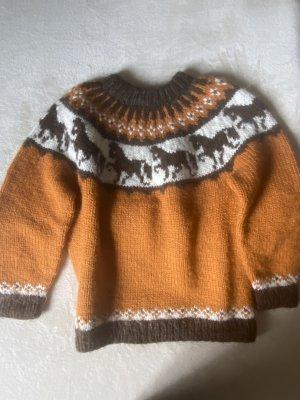 Norweger Wollpullover handmade