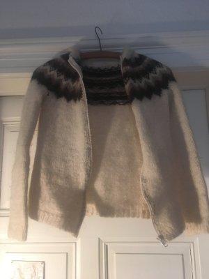 Maglione norvegese oro-nero Lana