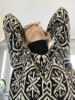 H&M Maglione norvegese bianco sporco-grigio ardesia