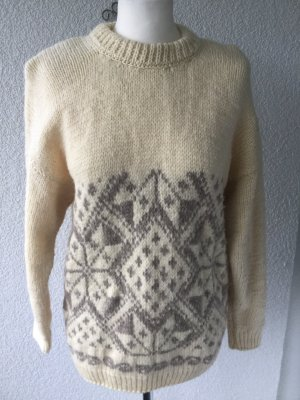handmade unikat Norwegian Sweater cream