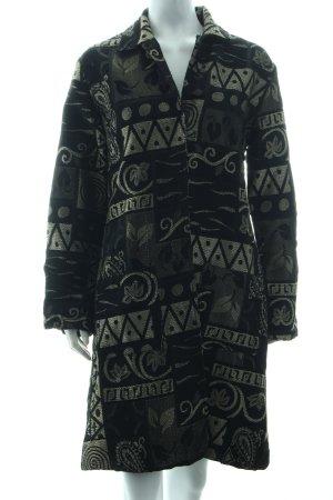 Nostalgia Übergangsmantel schwarz-creme Mustermix extravaganter Stil