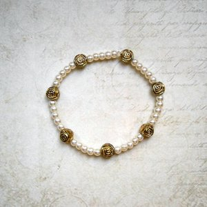 Bracelet white-gold-colored metal
