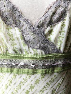 Vero Moda Empire Dress white-pale green viscose