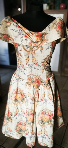 Yessadress Off-The-Shoulder Dress cream-light orange