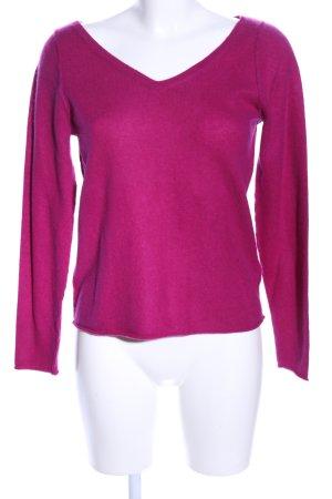 Not Shy V-Ausschnitt-Pullover pink Casual-Look