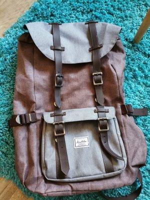 Plecak na notebooka jasnobrązowy-jasnoniebieski