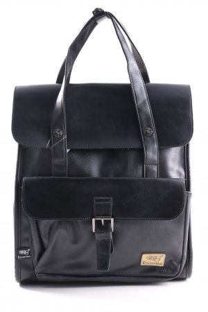 Notebookrucksack schwarz Business-Look