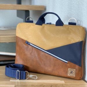 Peak - Fine - Design Laptoptas bruin-goud Oranje