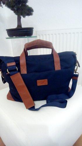 Notebooktasche teilweise aus echtem Leder