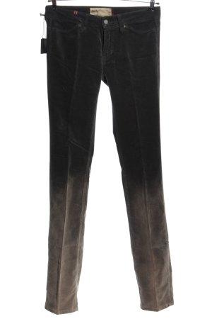 Notify Pantalone a vita bassa nero-marrone Colore sfumato stile casual