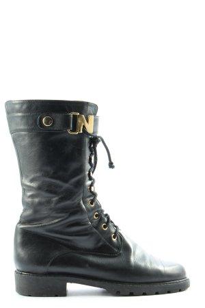 Nouchka Wide Calf Boots black casual look