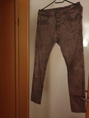 Lexxury Pantalone a sigaretta marrone chiaro