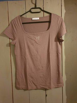 nougatfarbenes T-Shirt von SEMPRE