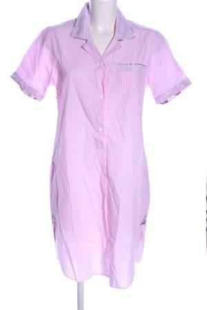 Novila Hemdblusenkleid pink Streifenmuster Casual-Look