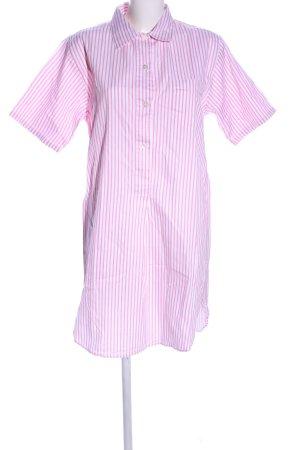 Novila Hemdblusenkleid weiß-pink Allover-Druck Casual-Look