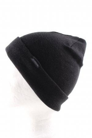 Knitted Hat black casual look