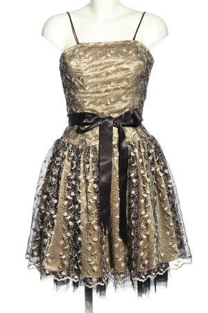 Nox Robe de bal doré motif de fleur élégant