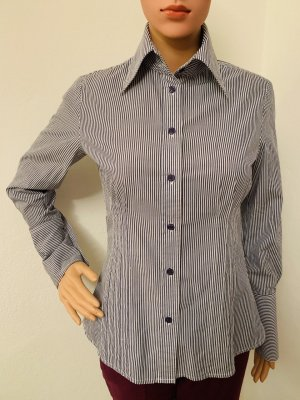 NP 116€ gestreiftes Hemd Shirt Slim Fit S 36 elegante Bluse Baumwolle Stretch Business Office