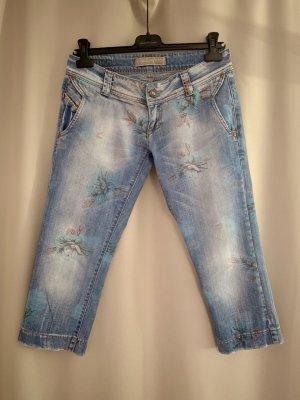 NP 120€ wie neu italienische Jeans Hose Caprijeans Caprihose Blau 36 S