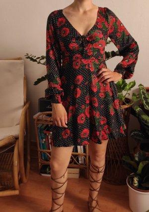 NP 140€ FREE PEOPLE Kleid Sommerkleid Rosen floral blumen XS 34 3