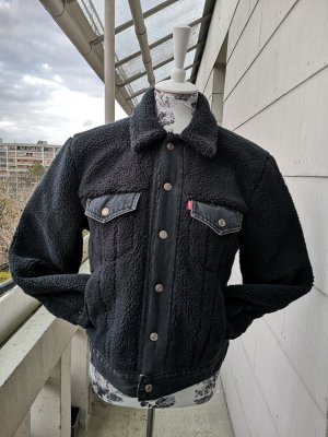 NP 149 €! Levi's Teddy Fell Jeans Jacke Gr. S neuwertig!