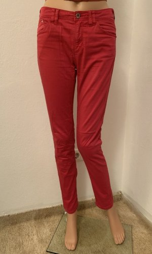 Armani Jeans Drainpipe Trousers red-neon red cotton