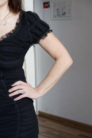 Dolce & Gabbana Corsage Dress black mixture fibre