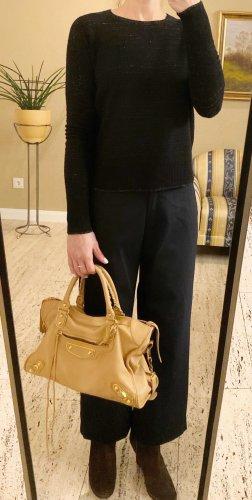 NP 169€, sehr schöner Luxus Pullover von MAJE Paris, Schwarz Silber, Gr 1 (34 xs s)
