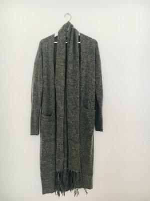 NP 179 Euro: Neu-Wollmantel, Strickmantel mit dazugehörigem Schal, lange Strickjacke, Jacke, Mantel