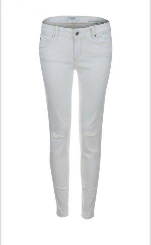 Liu jo Jeans cigarette blanc coton