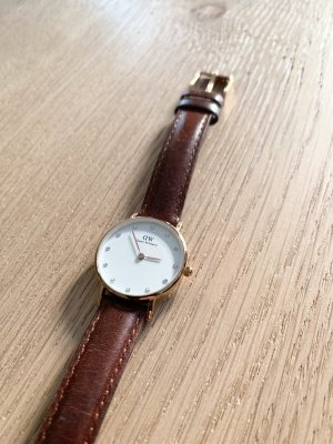 Daniel Wellington Watch With Leather Strap cognac-coloured-gold-colored leather