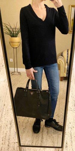 NP >250€, nw, 100% Cashmere Luxus Pullover von ERIC BMPARD in Blau, Gr. S (Auch XS und M) V-Neck