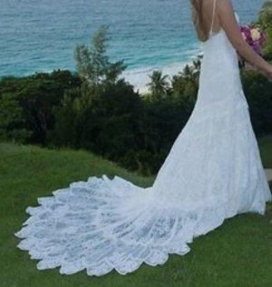Vestido de novia multicolor poliamida