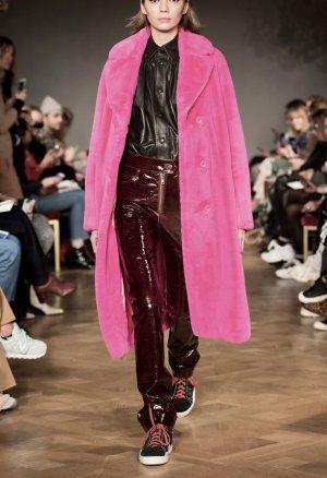 Stand Płaszcz ze sztucznym futrem różowy-różowy neonowy