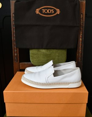 NP 372€ TOD'S Espadrilles Slipper Sneakers Turnschuhe Sommer Flat Schuhe 39