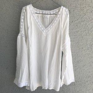Aniston Kanten blouse wit Viscose