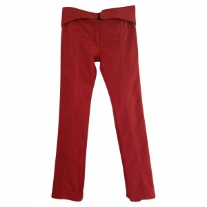 Roberto Cavalli Flares red cotton