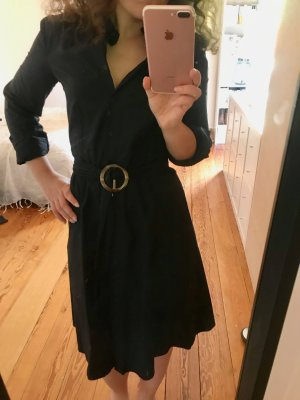 NP 49,99€ Hemdblusen Kleid A-Linie elegant bürotauglich knielang 34