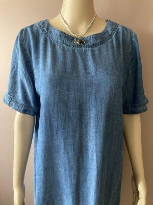 Esprit Jeansowa sukienka niebieski Lyocell