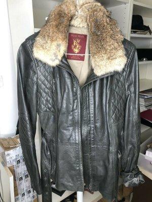Blaumax Veste en cuir multicolore cuir