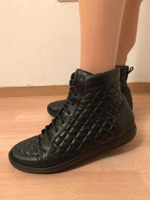 NP 832€ Loriblu Schnürsneaker High Top Sneakers Turnschuhe gesteppt Schuhe Boots Stiefeletten Echtleder Nappaleder