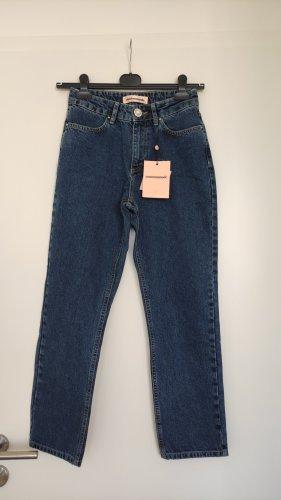 Custommade Jeans a zampa d'elefante multicolore Cotone
