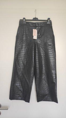 Set Spodnie z imitacji skóry czarny