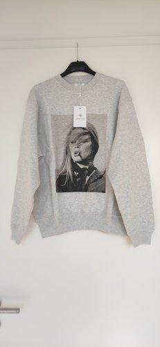 NP170€ Anine Bing Sweatshirt Oversized XS S M Terry O'Neill Brigitte Bardot Fotoprint Stylisch Graumeliert
