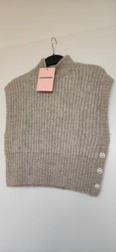 Custommade Sweter bez rękawów z cienkiej dzianiny Wielokolorowy