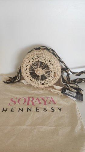 NP210€ Soraya Hennessy Runde Korbtasche Bambus Palmblätter Boho Bali Festival Geflochten Ethno Strand