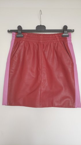 mbyM Leather Skirt multicolored leather